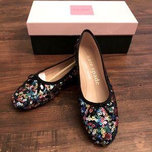 Kate Spade Honey Flats Multi Color Sequin Shoe